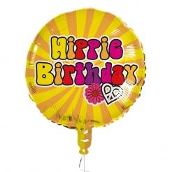 Hippie-Birthday Partyballon 60er-Deko bunt 45 cm