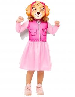 Skye™-Kostüm für Mädchen Paw Patrol™ Lizenzartikel rosa-hellbraun