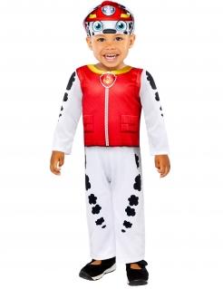 Offizielles Marshall™-Babykostüm Paw Patrol™ weiß-schwarz-rot