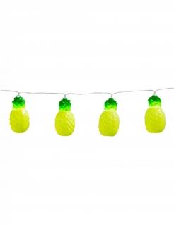 Leuchtende Ananas-Girlande Sommerparty-Deko gelb-grün 140 cm