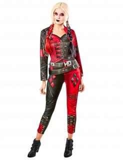 Harley-Quinn™-Kostüm Suicide-Squad 2™ rot-schwarz