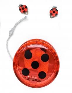 Ladybug™-Zubehörset Jojo und Ohrringe 3-teilig rot-schwarz