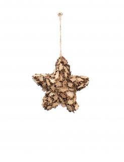 Stern-Christbaumschmuck aus Holz 10 cm