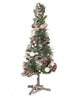 Weihnachtsbaum Naturholz braun-grün 55 cm