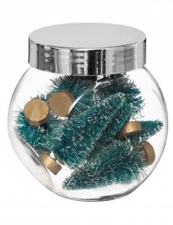 Festliche Tannenbaum Tischdeko Weihnachten 8 Stück grün-braun 5 cm