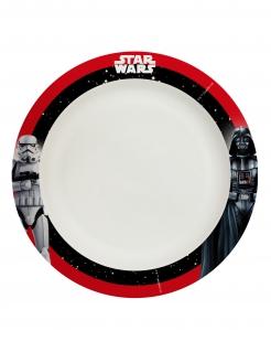Offizielle Star Wars™-Teller Dunkle Seite 8 Stück schwarz-weiß-rot 24 cm