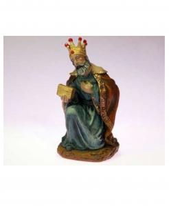 Heiliger König Melchior Dekofigur aus Harz bunt 14 x 8 cm
