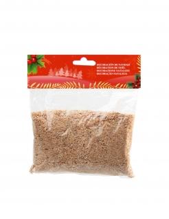 Deko-Streu für Weihnachtskrippe braun 40 g