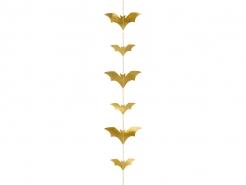 Fledermausgirlande Halloween-Raumdeko goldfarben 150 x 11 cm