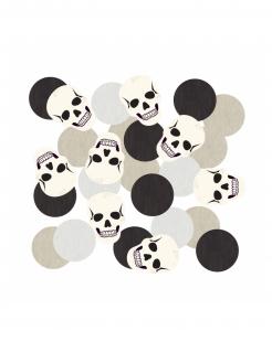 Totenkopf-Konfetti Halloween-Deko schwarz-weiß 14 g
