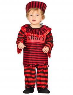 Verrückter Gefangener Babykostüm für Halloween schwarz-rot