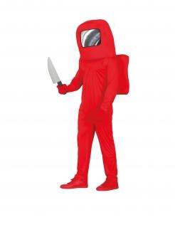 Killer-Astronaut Teenager-Kostüm rot