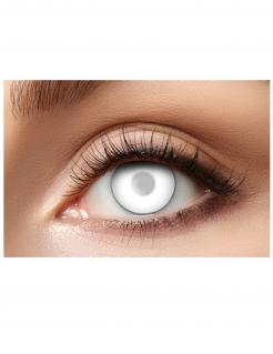 Trübe Zombie-Kontaktlinsen für Erwachsene Halloween Make-up weiß 14,5 mm