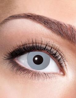 Schaurige Halloween-Kontaktlinsen für Erwachsene grau 14,5 mm