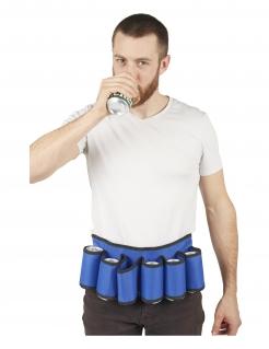 Flaschenhalter-Gürtel für Erwachsene blau-schwarz