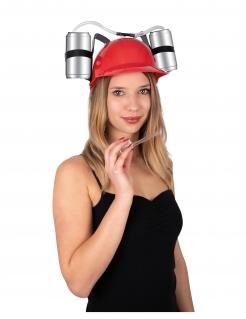 Durstlöscher-Helm für Erwachsene rot-schwarz