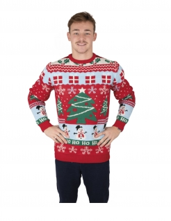 Weihnachtsbaum-Pullover für Erwachsene bunt