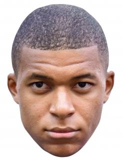 Kylian Mbappé Halbmaske für Erwachsene bunt