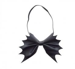 Todschicke Fledermausfliege für Erwachsene Halloween-Accessoire schwarz