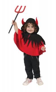 Frecher Teufelumhang für Kleinkinder rot-schwarz