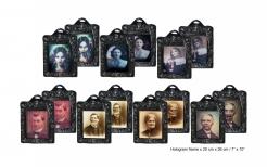 Spukendes Horror-Portrait Halloween-Deko 26 x 20 cm