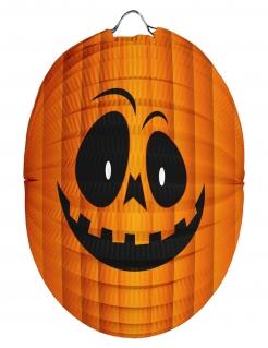 Halloween Kürbis-Laterne, orange, 22 cm