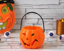 Halloween Kürbis, Dekoration, orange, 10 cm