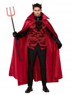 Höllenfürst-Herrenkostüm Halloween-Outfit schwarz-rot