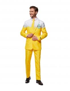 Offizieller Mr. Bier Suitmeister™ Partyanzug für Herren gelb-weiß