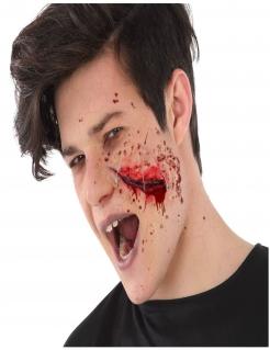 Tiefe Schnittwunde Halloween-Make-up für Erwachsene rot