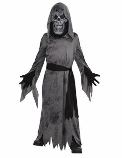 Verwesender Ghoul Halloween-Kinderkostüm grau-schwarz