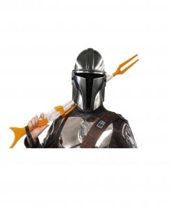 Offizielle The Mandalorian™ Halbmaske für Erwachsene Star Wars™ silberfarben-schwarz