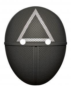 Wächter-Survival Maske für Erwachsene Dreieck Netflix-Serie schwarz-weiß