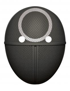 Gruselige Wächter-Maske für Erwachsene Streaming-Serie schwarz-weiß