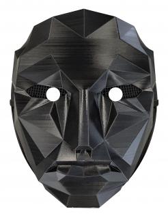 Survival-Game Maske für Erwachsene TV-Serie schwarz