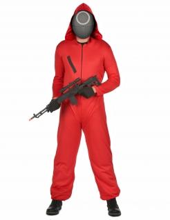 Gefährlicher Wächter Kostüm für Erwachsene koreanische Serie schwarz-rot