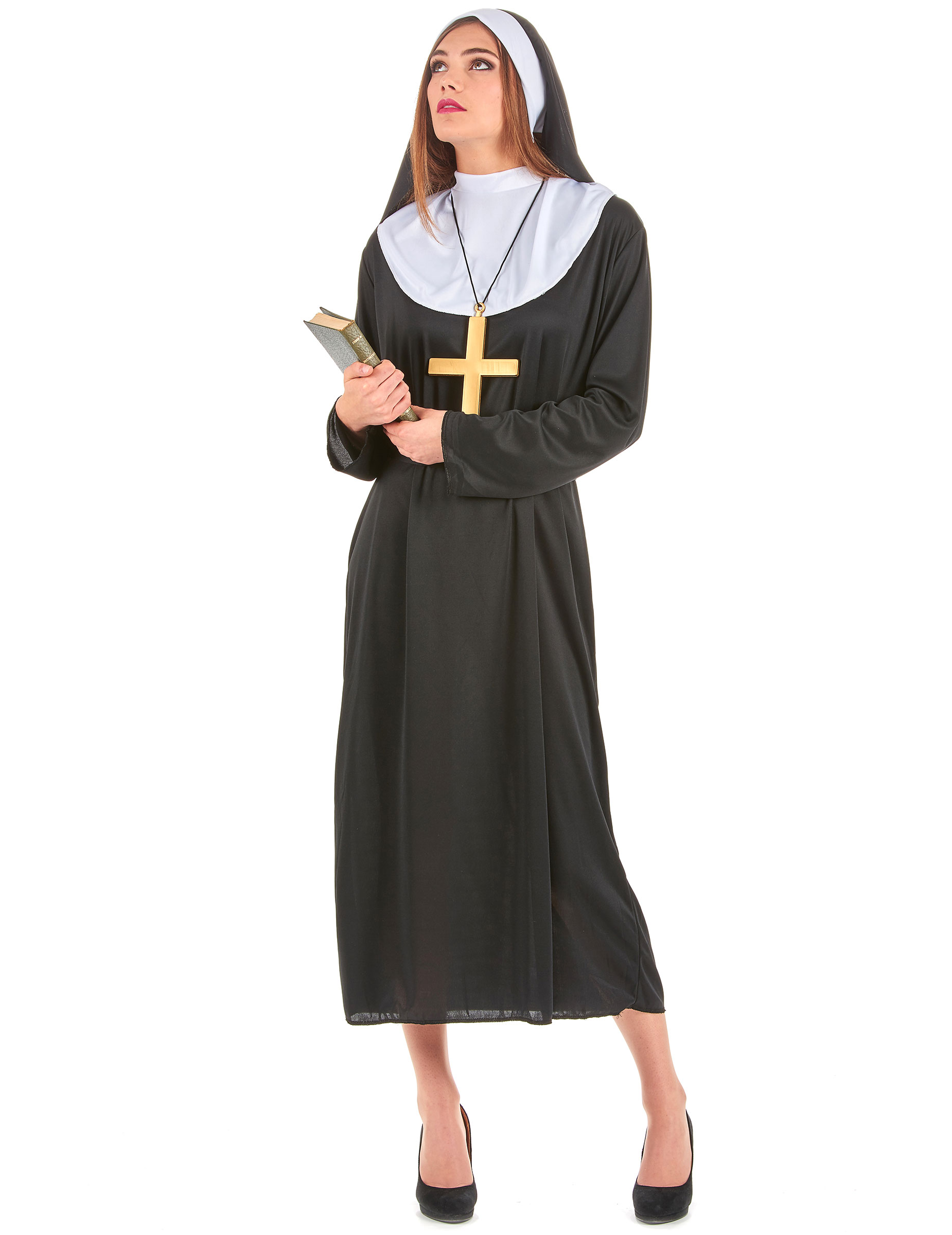 Nonne Damenkostum Schwester Schwarz Weiss Gunstige Faschings