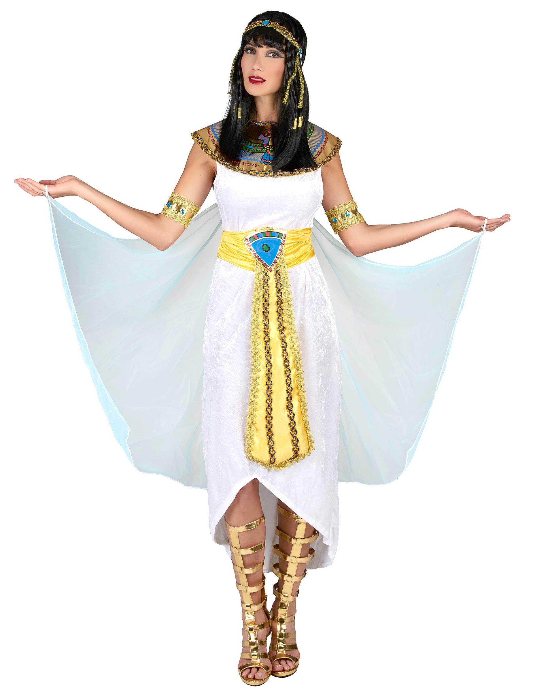 Agypterin Kostum Agyptische Konigin Weiss Gold Blau Gunstige