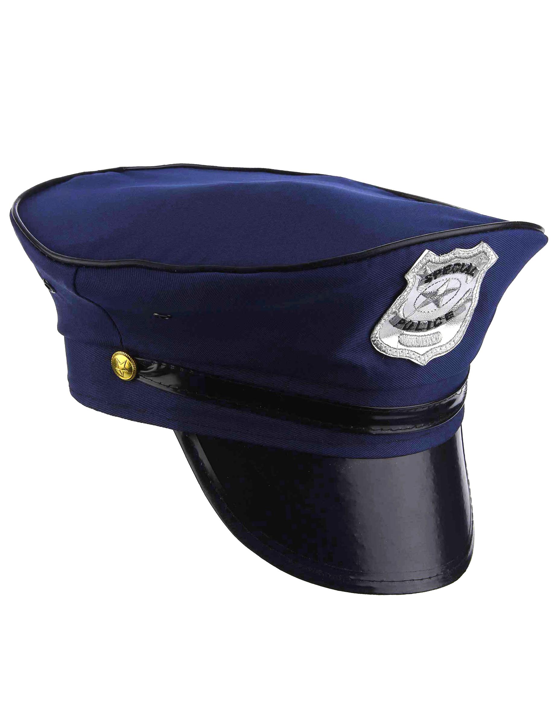 Karneval Zubehör Polizei Mütze weiß zum Polizisten Kostüm