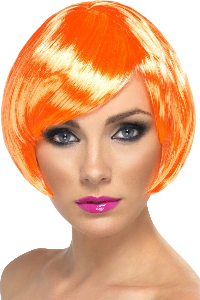 Neon per cke pagenschnitt 80er party orange g nstige for Accessoires 80er party