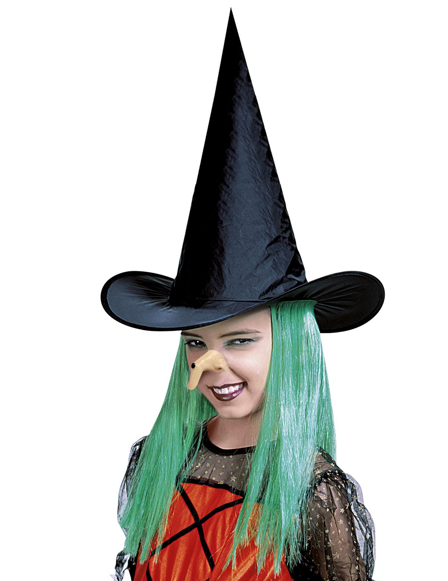 Kost/üm Accessoires Zubeh/ör Luxuspiraten Witch Nose Natur krumme Hexennase mit Warze Nase Hexe perfekt f/ür Halloween Karneval und Fasching