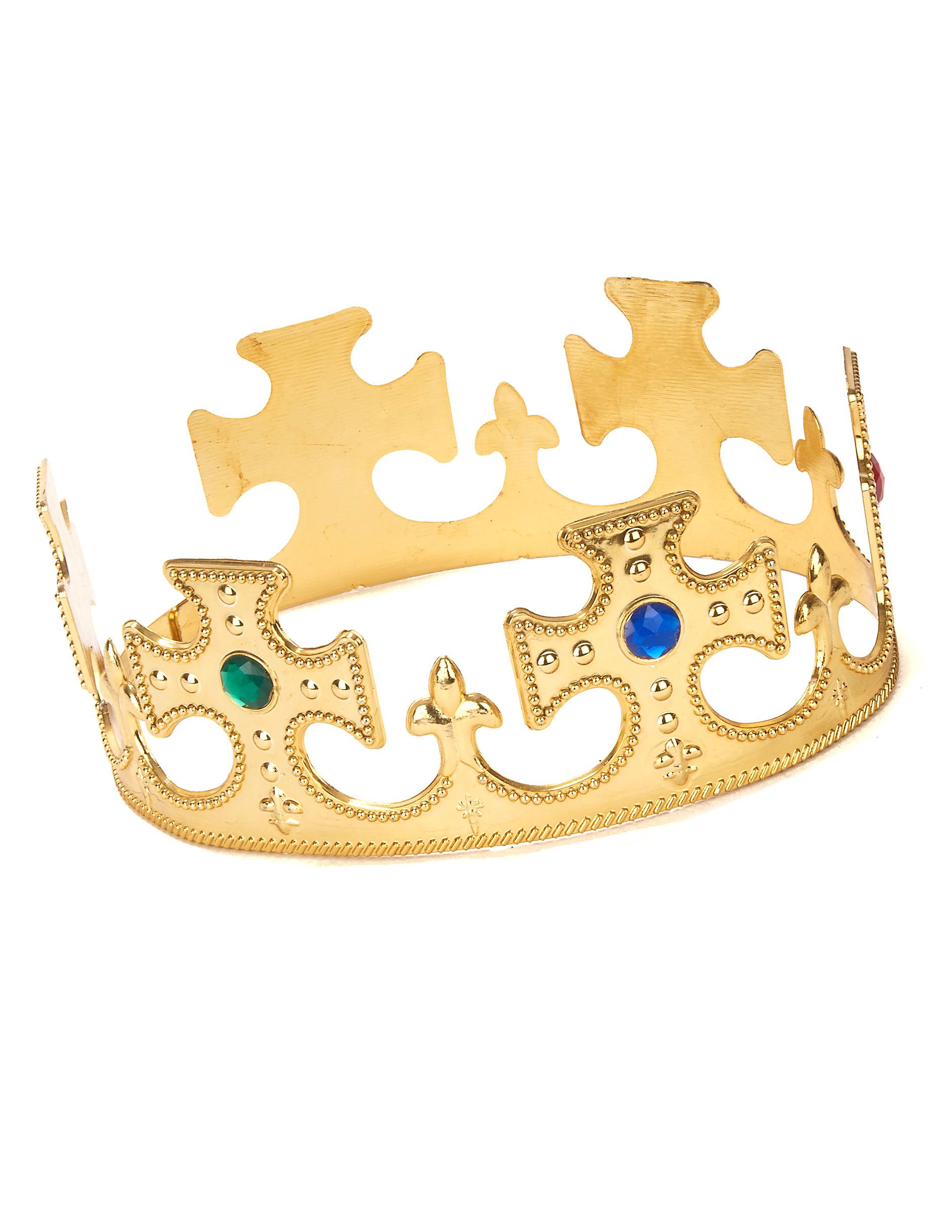 Königs-Krone mit Schmucksteinen gold , günstige Faschings ...
