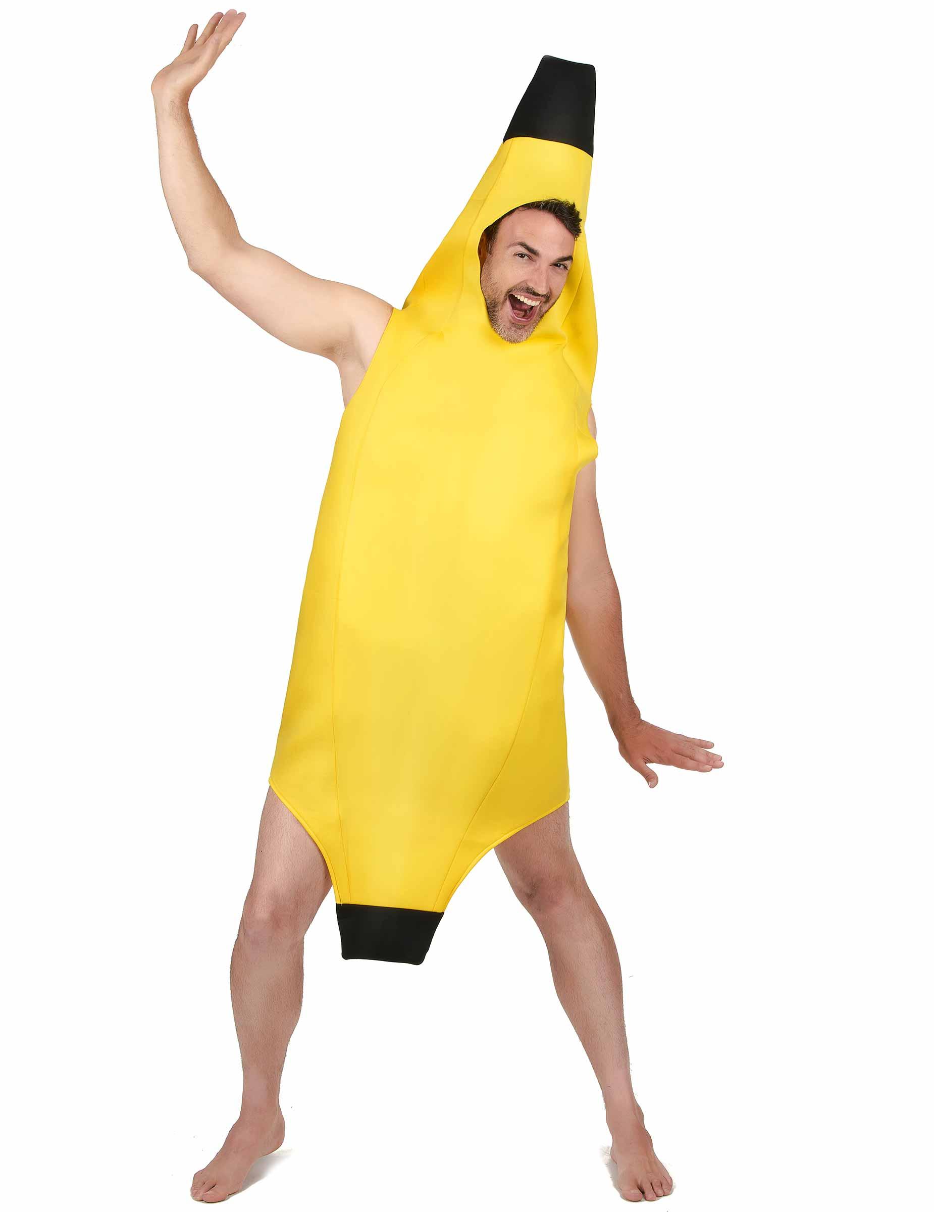 Amscan Kostüm Coin Bananas Banane Frucht gelb Fasching Karneval  M//L