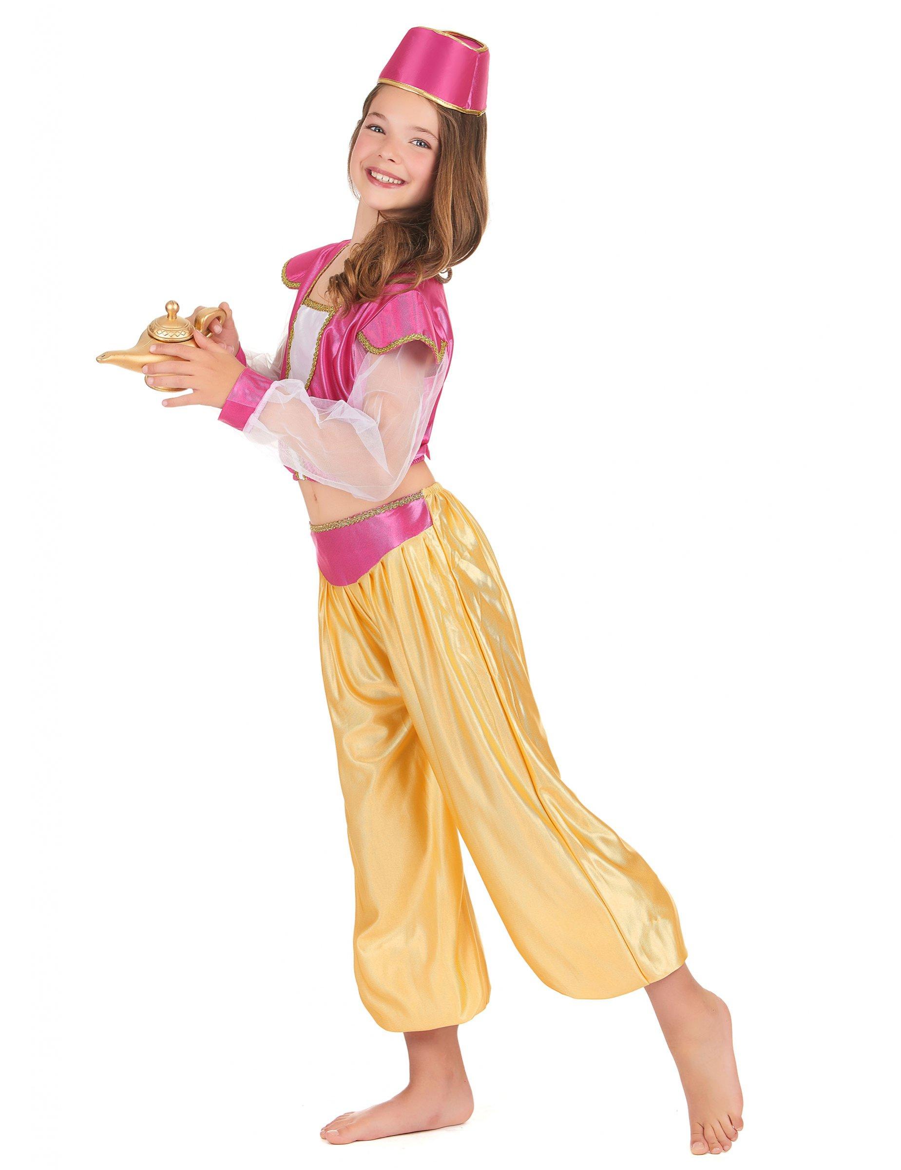 Orientalische Prinzessin Kostum Fur Kinder Pink Gelb Gunstige