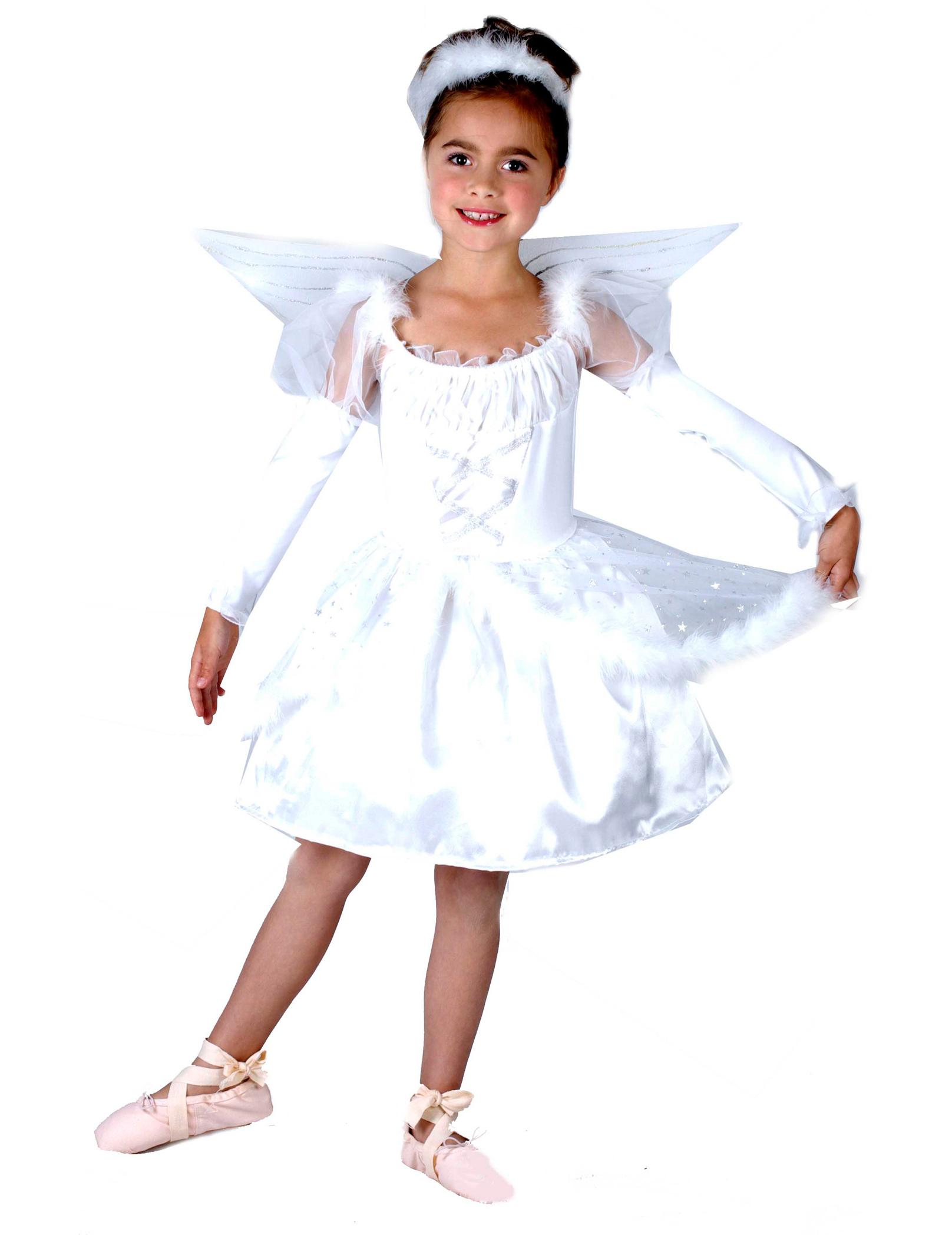 Niedliches Engel Kinderkostum Weiss Gunstige Faschings Kostume