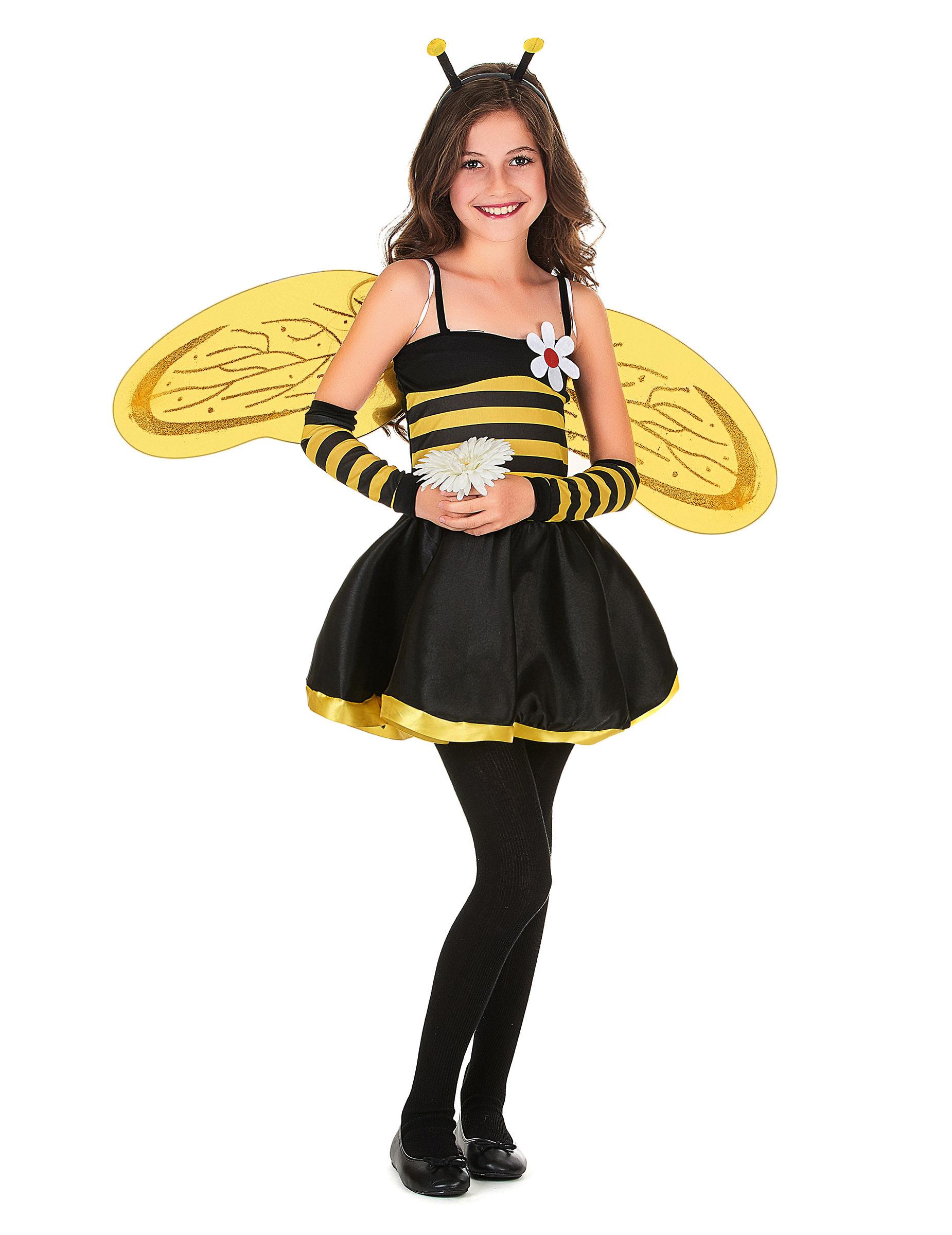 Susse Kleine Biene Kinderkostum Gelb Schwarz Gunstige Faschings