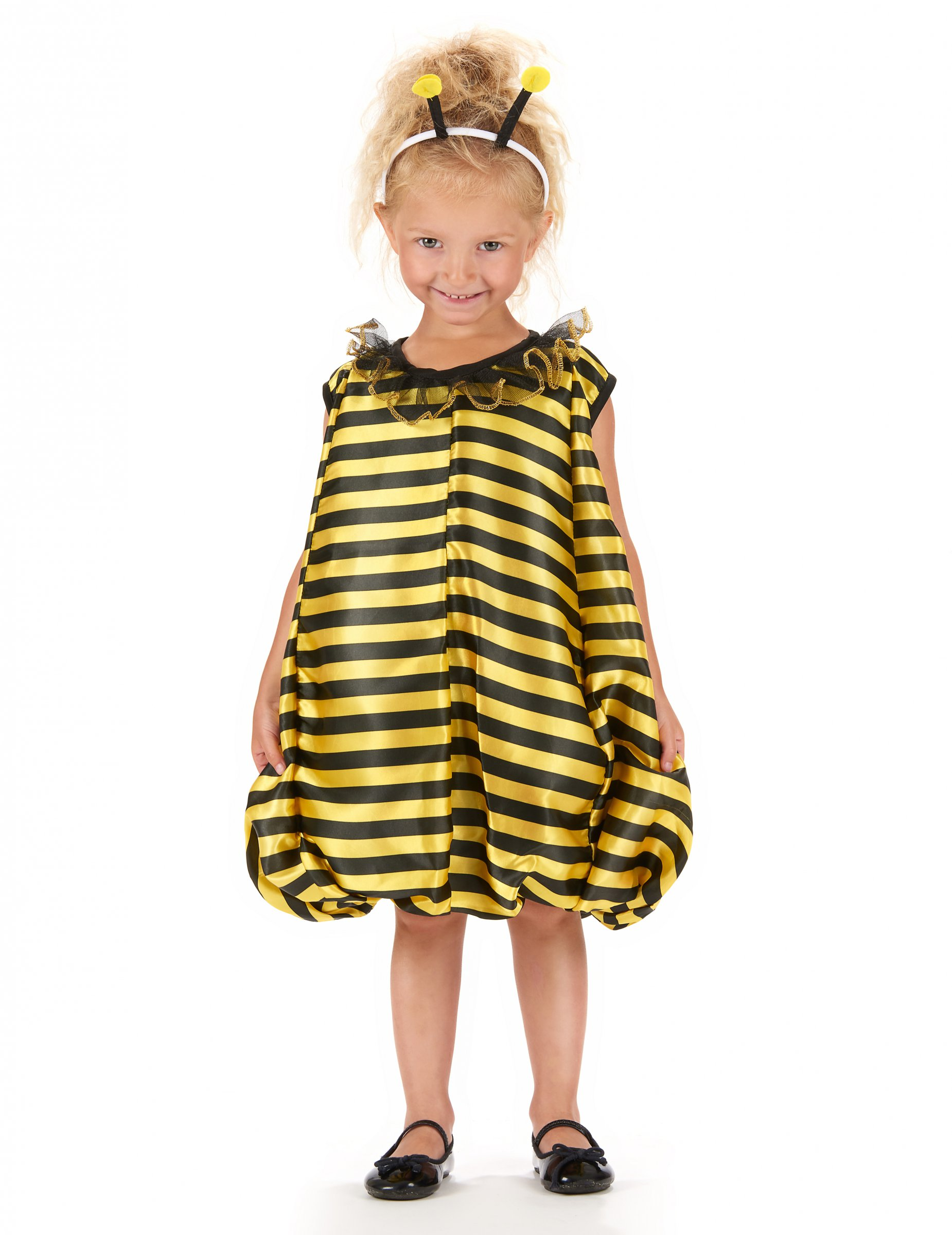 Susses Bienchen Kinderkostum Biene Schwarz Gelb Gunstige Faschings