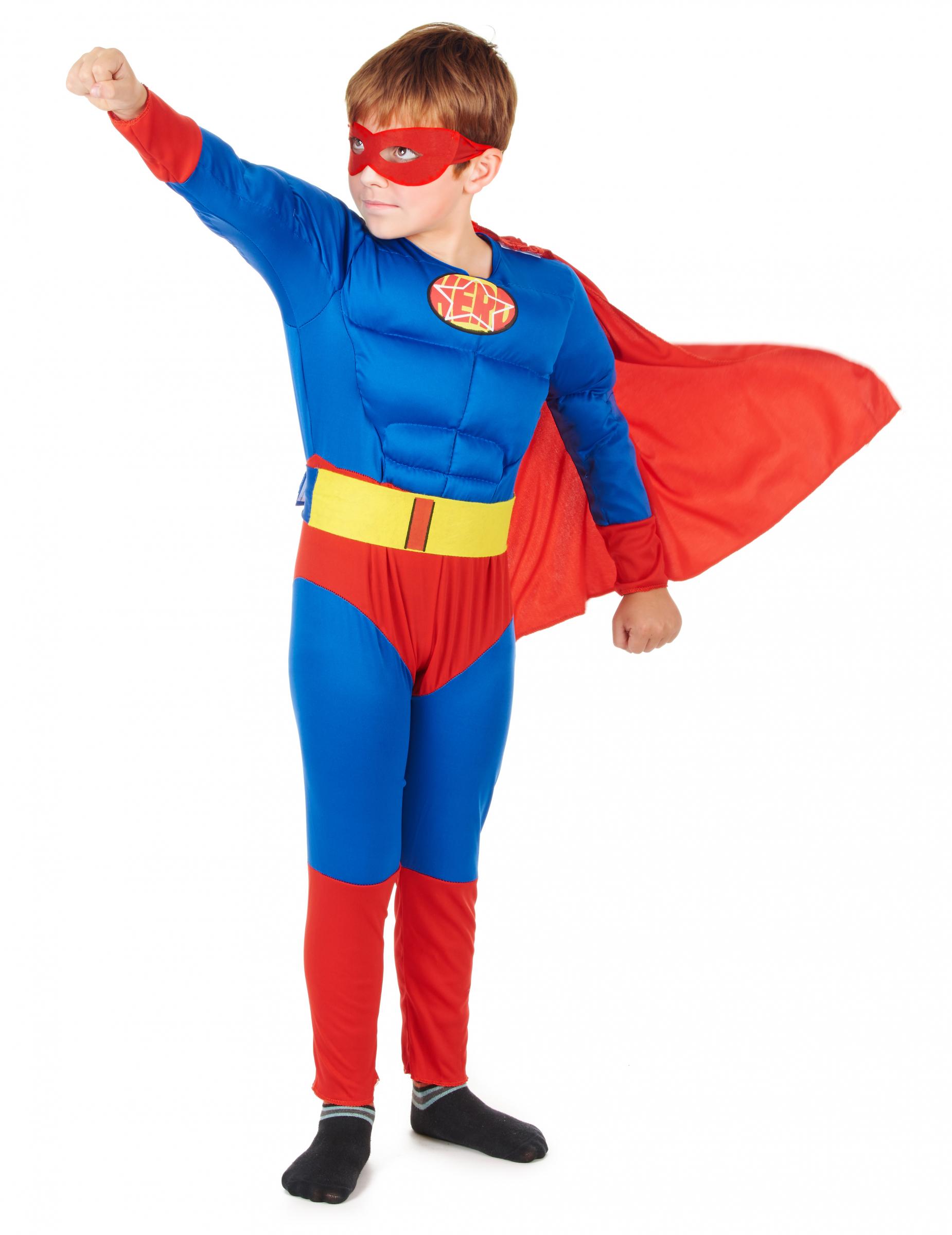 Superhelden-Kostüm für Kinder rot-blau , günstige
