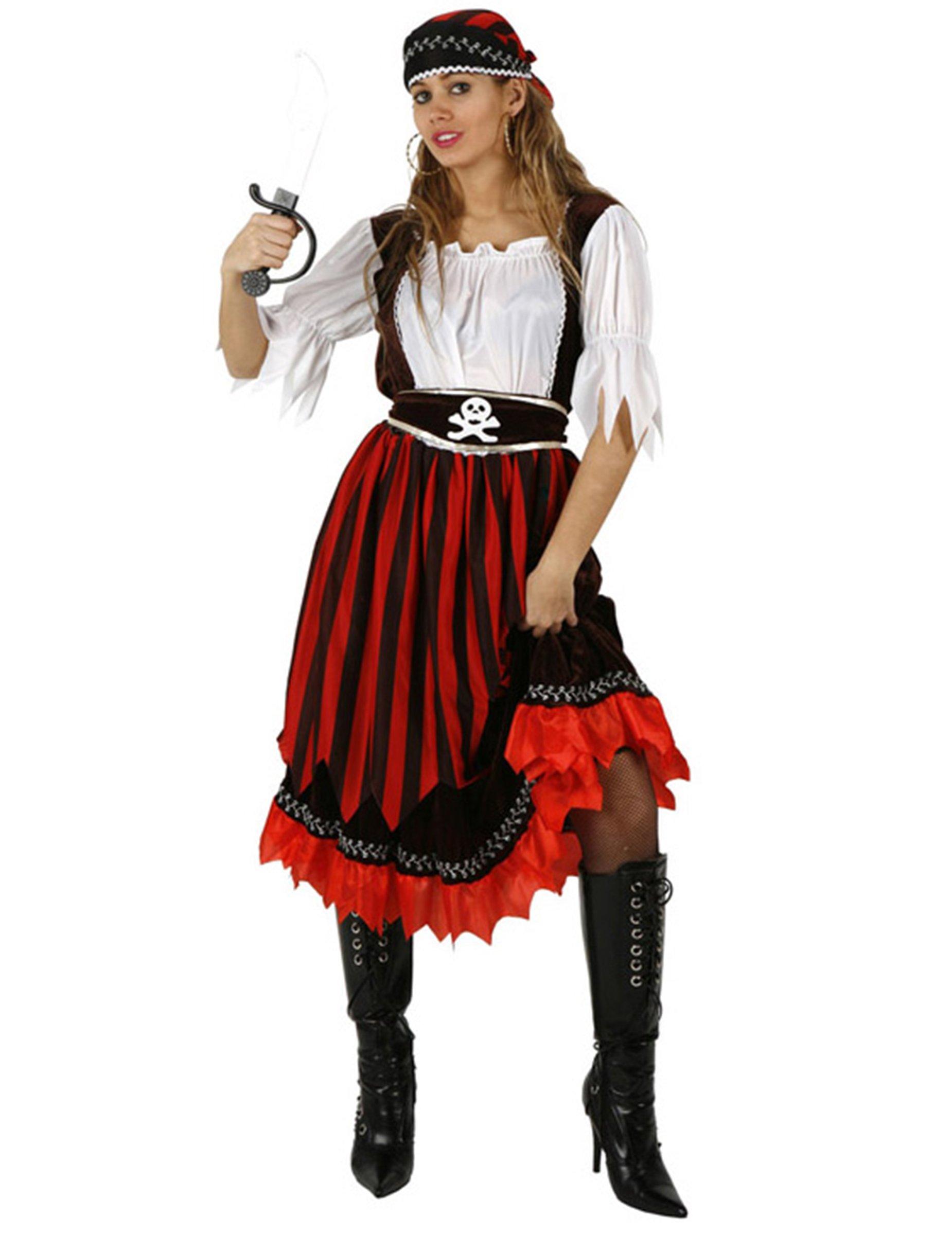 verruchte piratenbraut damenkost m piratin plus size rot. Black Bedroom Furniture Sets. Home Design Ideas
