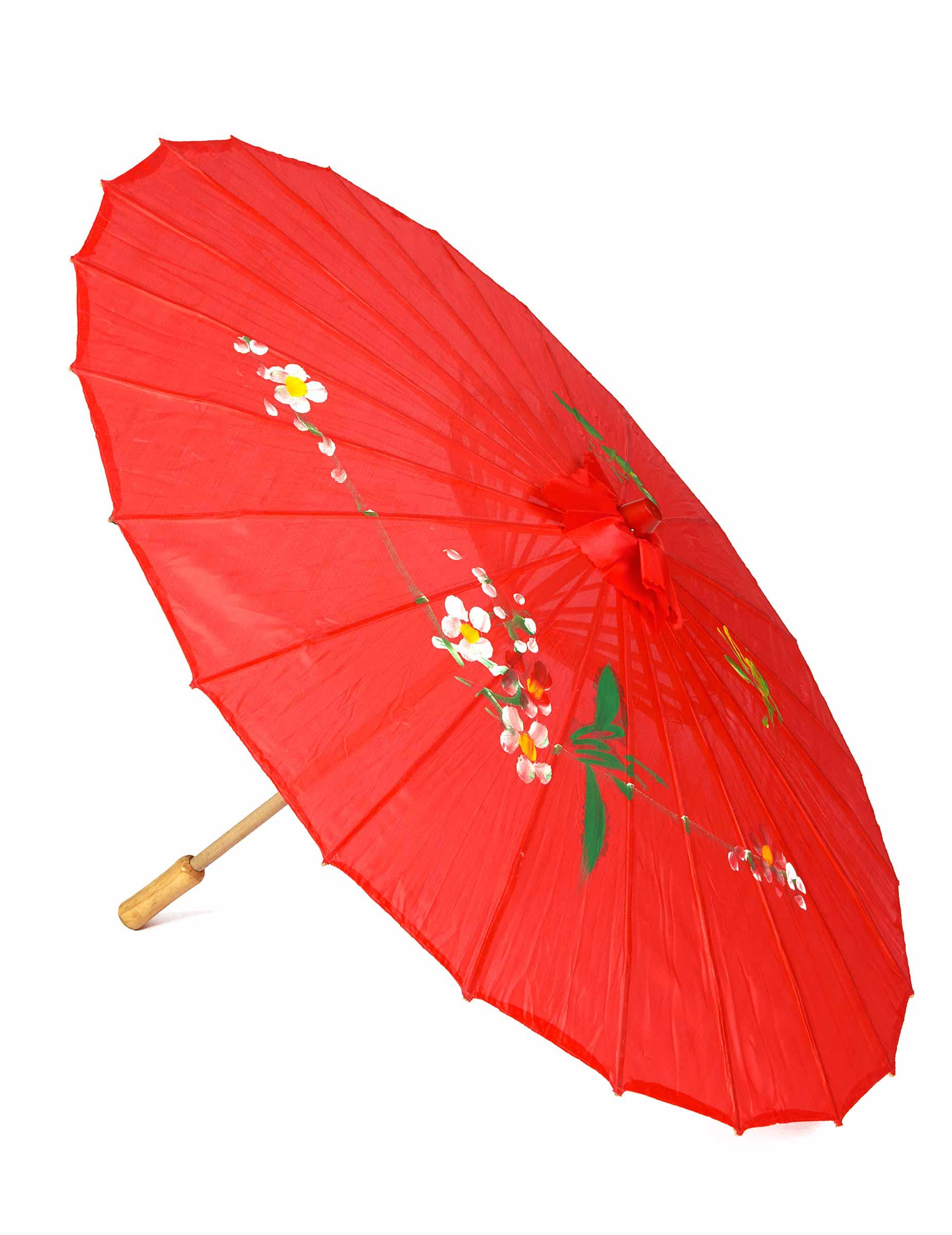 Sonnenschirm pink 72 cm groß Regenschirm Kostümzubehör Fasching